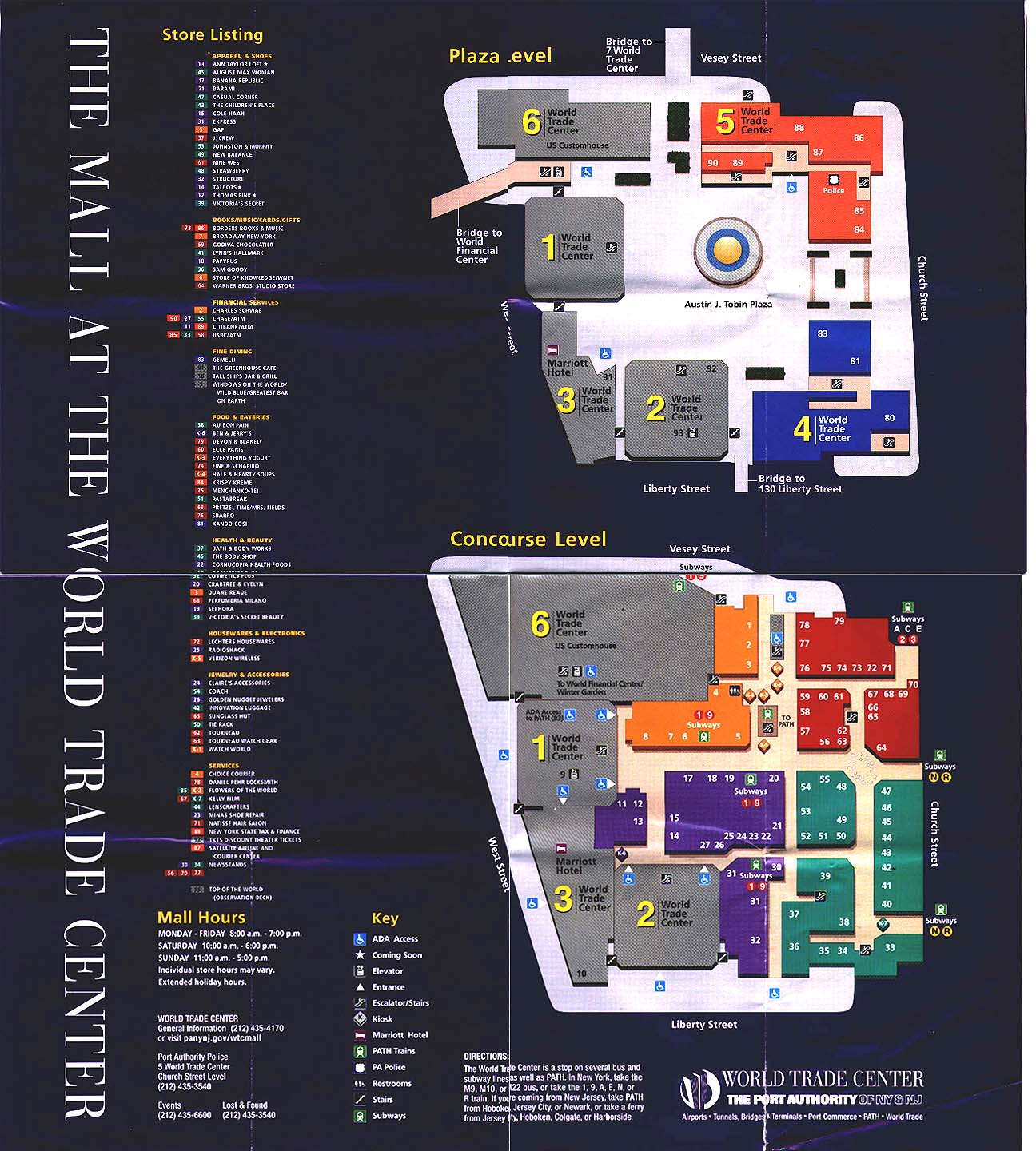 hight resolution of world trade center directory map from 1999 or 2000 world trade center mall