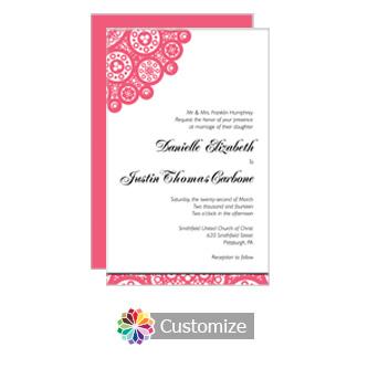 Clic Wedding Invitation Card