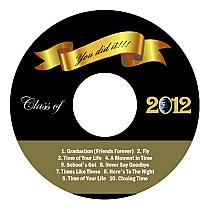 graduation cd dvd labels