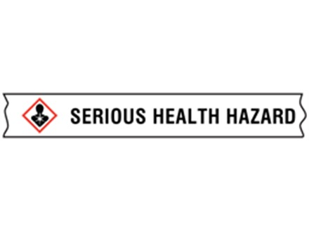 Serious health hazard GHS tape  GHST008  Label Source