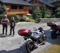 balades à moto dans les Alpes françaises, France