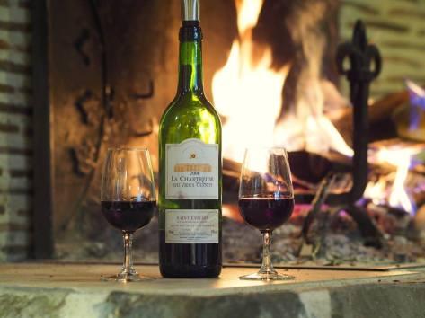 un verre de vin au coin du feu ?