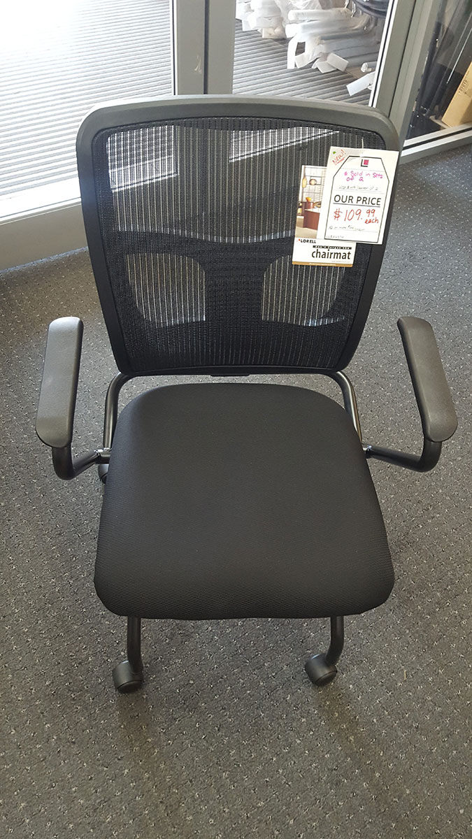 Lorell Mesh BackFabric Seat Nesting Chair sold as set of 2  Labers Furniture