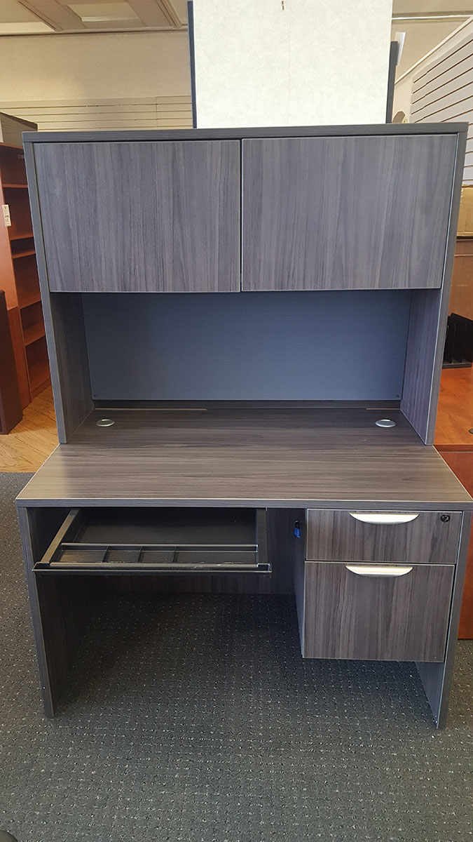 Office Source 48x30 Desk w Hutch Tackboard BoxFile Center Drawer  Labers Furniture