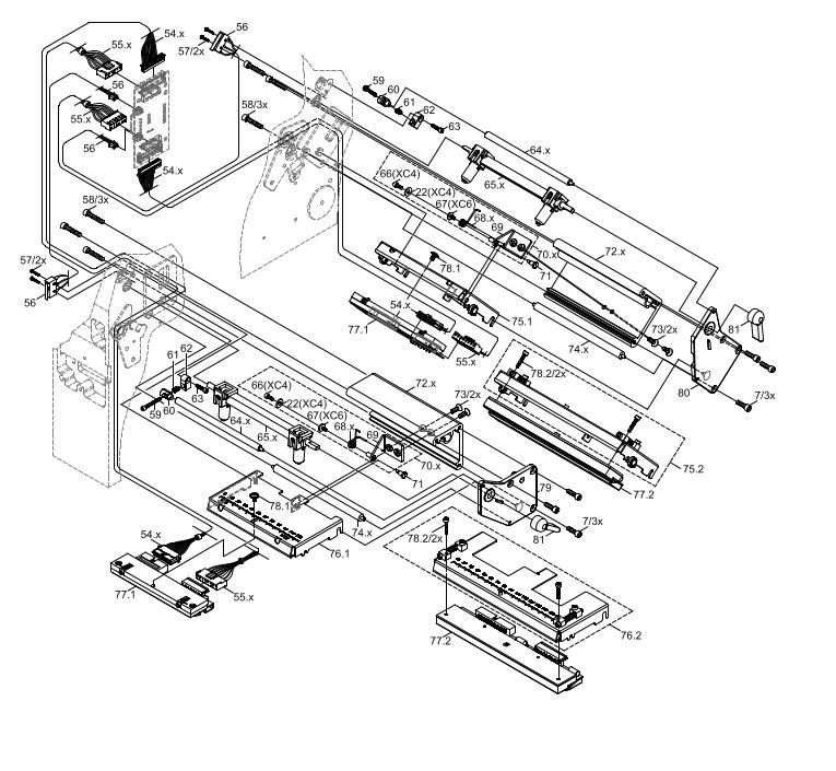 Cab XC6 GHS Label Printer Spare Parts Finder