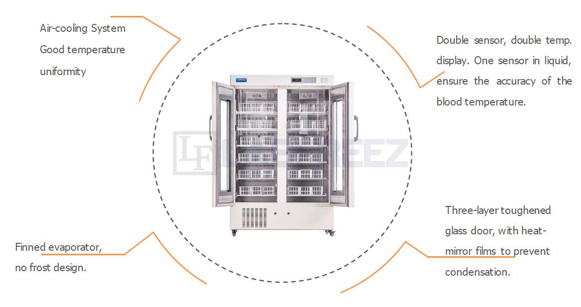 LFZ-BKS Series Blood Bank Refrigerators Manufacturers
