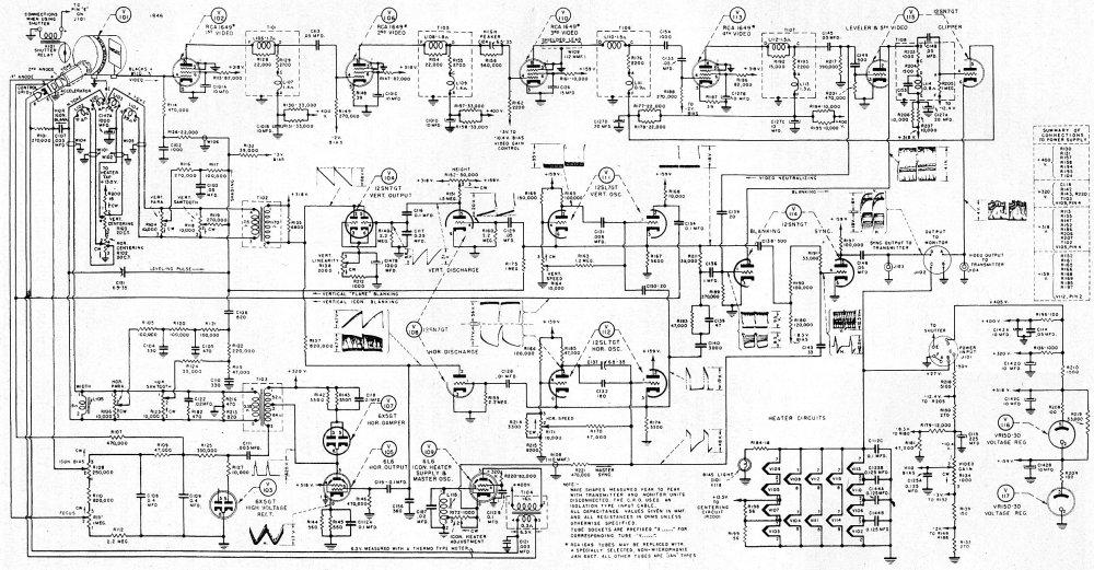 medium resolution of schematic of the crv 59aae iconoscope camera 2500x1300 956kb