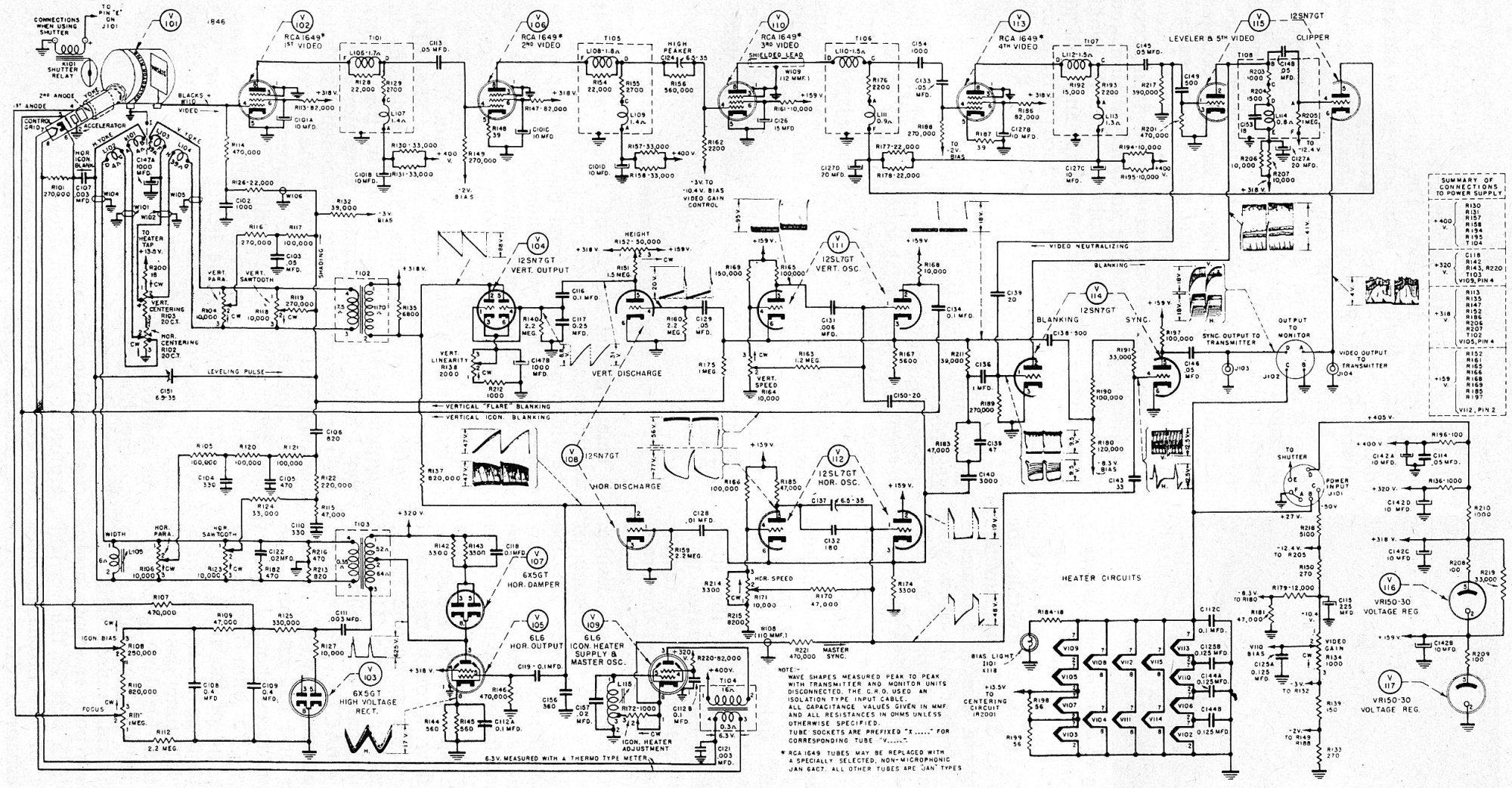 hight resolution of schematic of the crv 59aae iconoscope camera 2500x1300 956kb
