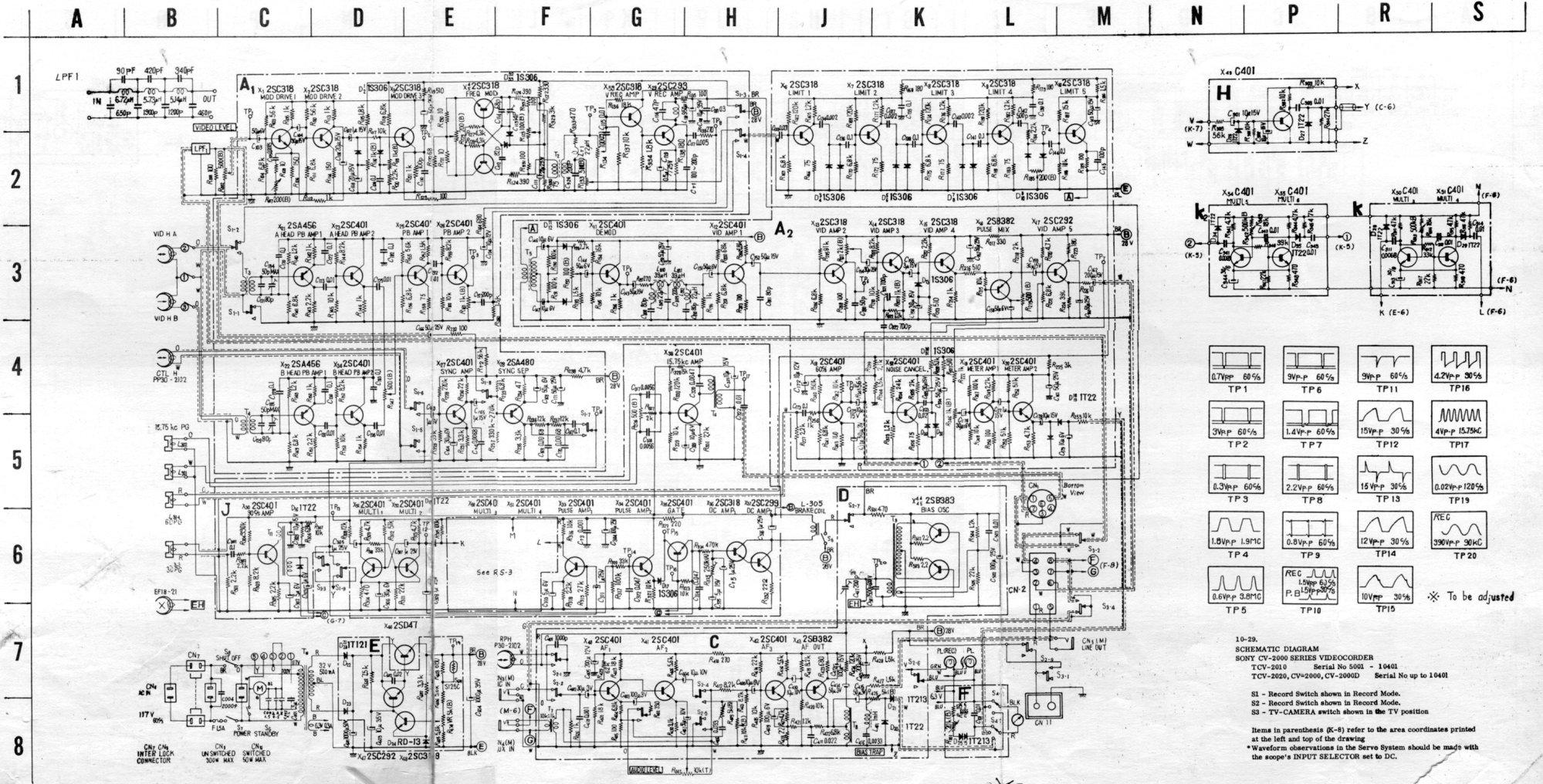 hight resolution of labguy s world sony half inch pre eiaj vtr s sony circuit diagram klv 30hr3 schematic of
