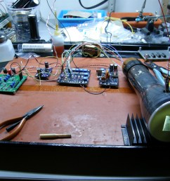 tiny tv mark 2 and eric s 3 boards driving a 3jp7 radar display tube 20141212 [ 1200 x 900 Pixel ]