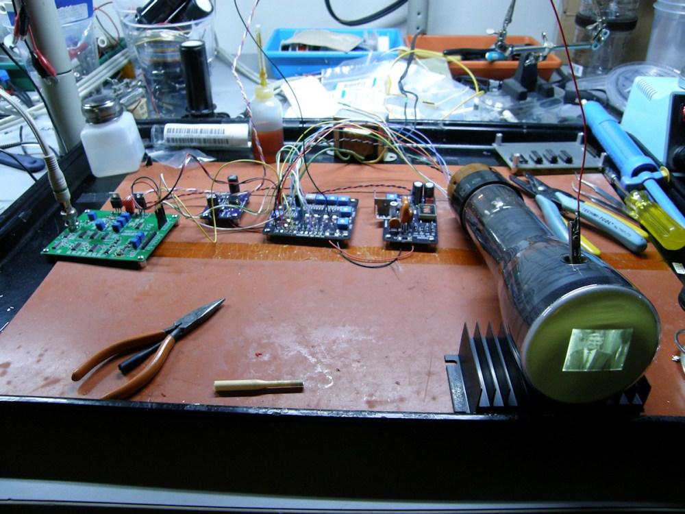 medium resolution of tiny tv mark 2 and eric s 3 boards driving a 3jp7 radar display tube 20141212