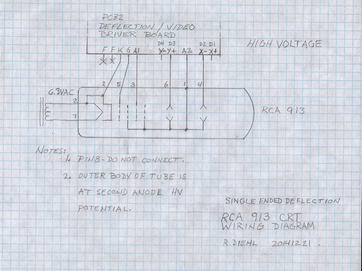 High Voltage Transformer Wiring Diagram Labguy S World Electrostatic Cathode Ray Tube Project 1