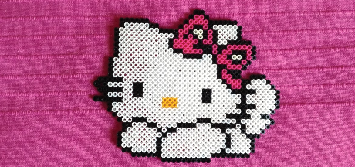 Hello Kitty hama beads