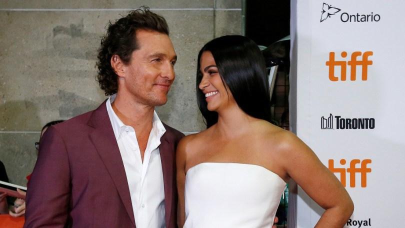 Matthew McConaughey y su esposa Camila Alves