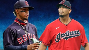 Francisco Lindor y Carlos Carrasco