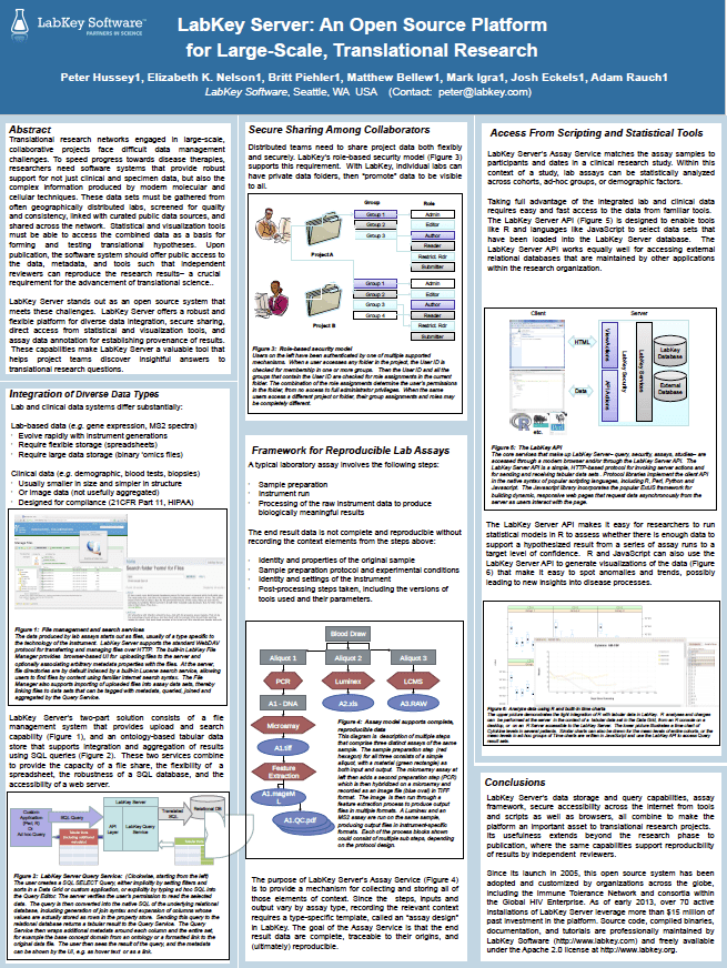 LabKey Server: An Open Source Platform for Large-Scale, Translational Research