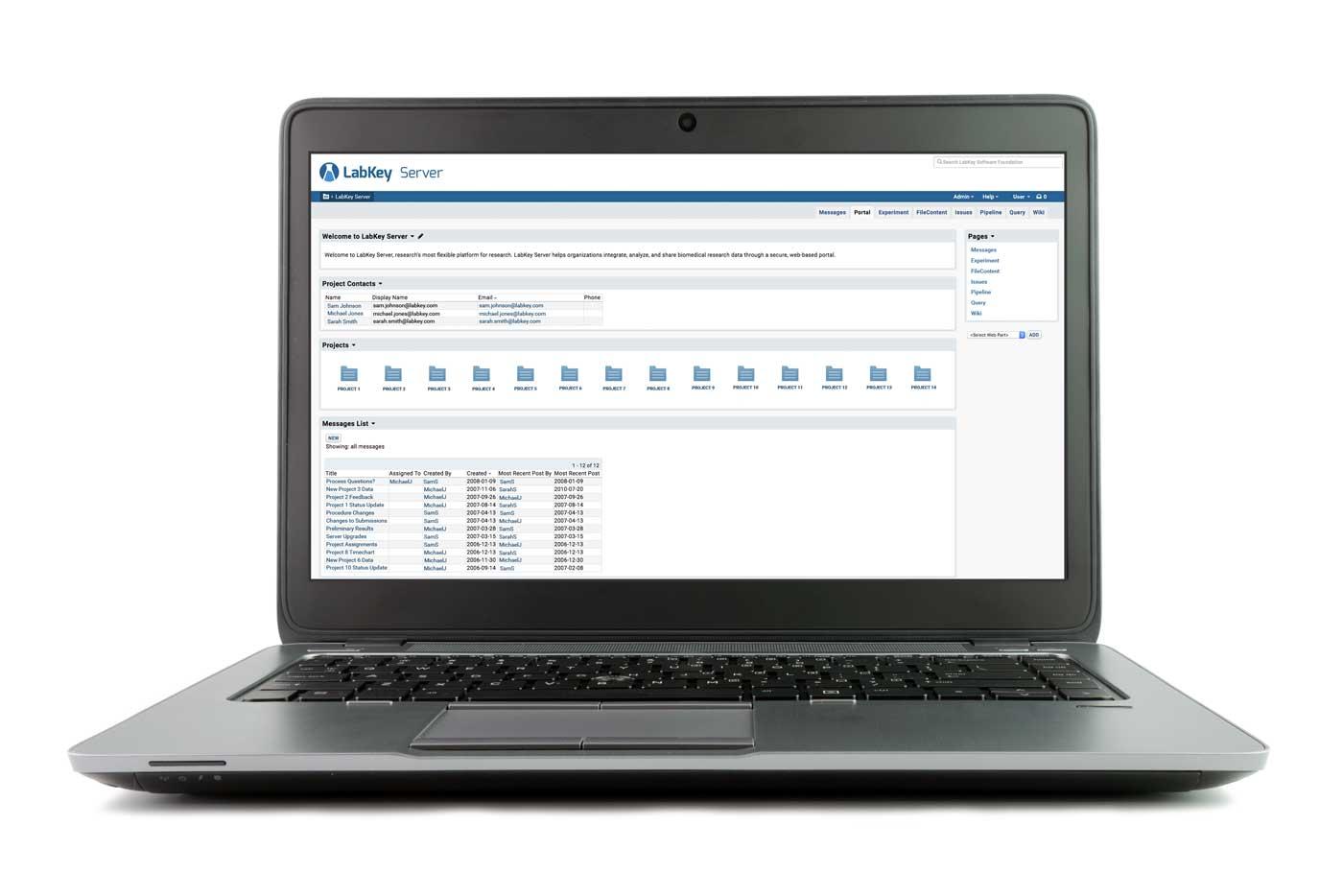 LabKey Server - Open Source Software for Data Integration, Data Mangement, and Scientific Collaboration