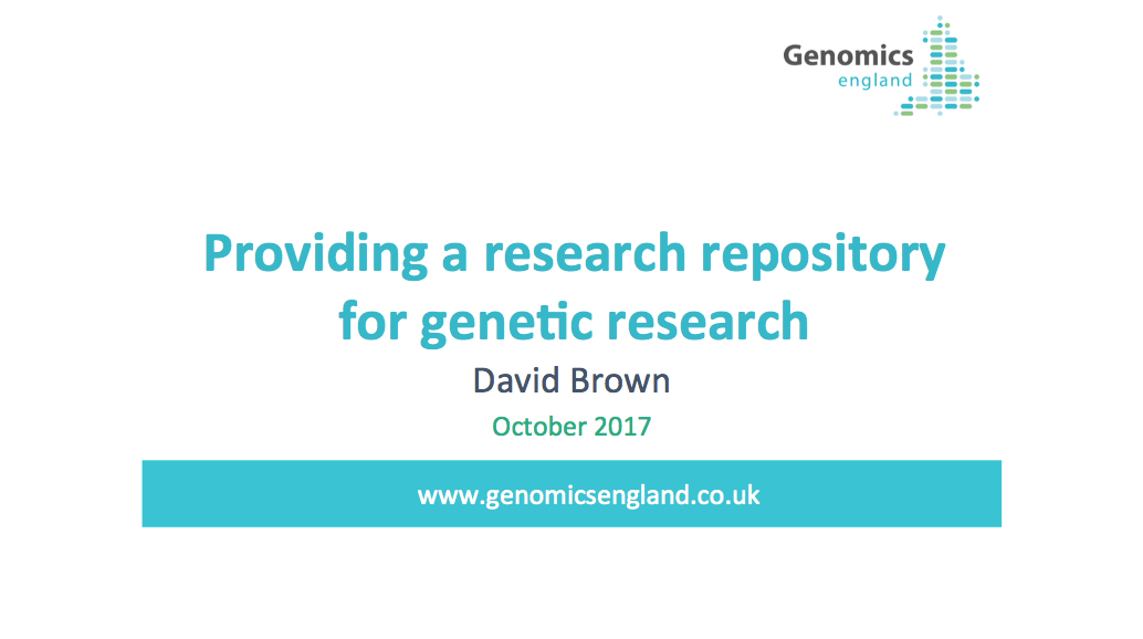 Genomics England presents the use of LabKey Server as a repository for genetic research