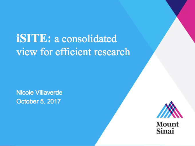 Mt Sinai presents LabKey Server-based iSITE: a consolidated view for efficient research