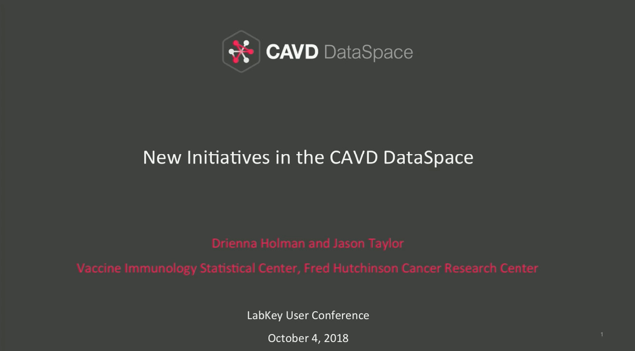 LabKey software based CAVD DataSpace shares new initiatives to help advance HIV Vaccine Research including the edition of mAB data