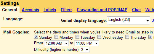 Gmail Goggles: No More Drunk Emailing on Friday Nights