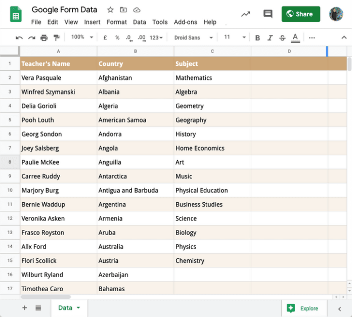 How to Add Options in Google Forms Questions from Google Sheets