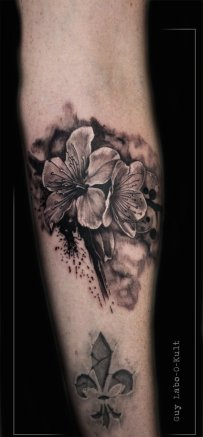 Graphic Cherry Blossom - Done at Art Circus Lausanne 2015