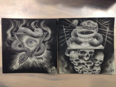 """Charcoal Drawing """"Arkhaeon"""""""