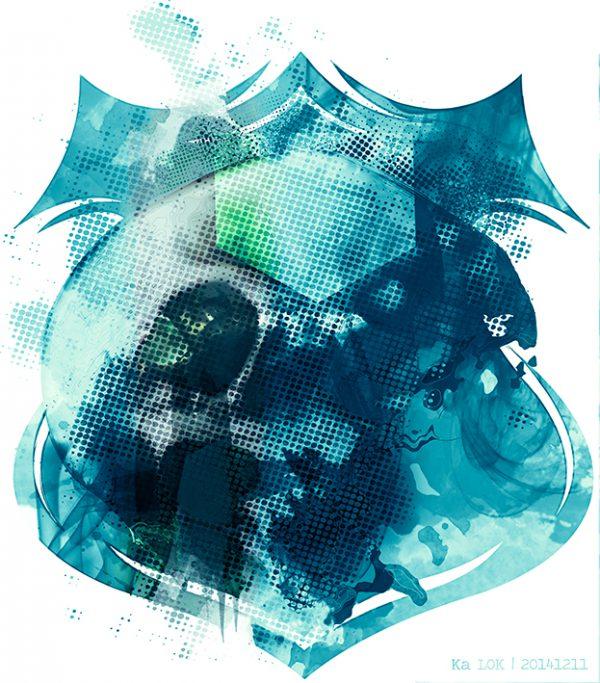 GraphiKArt - BannerSkull by Ka L-O-K