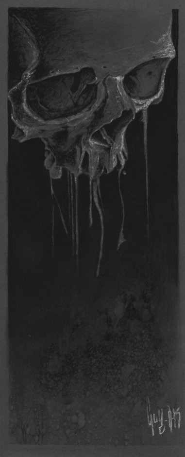 "Charcoal Drawing ""Deficit omne quod nascitur"""