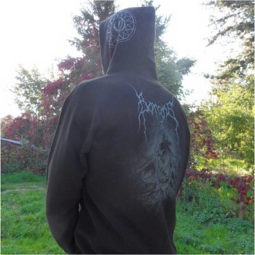 """Design on the back for a hoodie of swiss black metal band """"Borgne"""""""