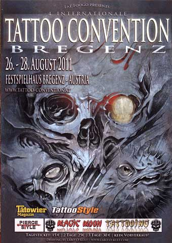 Poster Design for the international Tattoo Convention Bregenz 2011