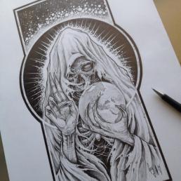 """Pencil Drawing """"Master Dixit"""" Guy Labo-O-Kult"""