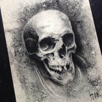 Charcoal Drawing Sold by Guy Labo-O-Kult