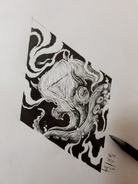 "Pencil Drawing ""Octopus"" Guy Labo-O-Kult"