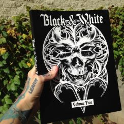 """Cover Art for the Out of Step book """"Black & White"""" 2 by Guy Labo-O-Kult"""