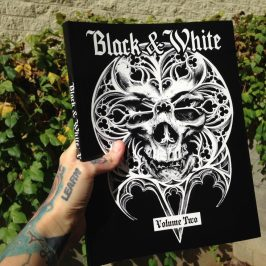 "Cover Art for the Out of Step book ""Black & White"" 2 by Guy Labo-O-Kult"