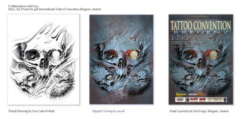 Collaboration Design Poster Int. Tattoo Convention Bregenz