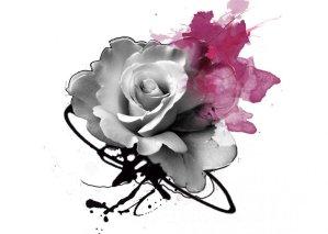 """Splash Rose"" - Creation of Labo Pogo Tattoo Motif"