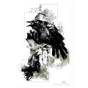 "HelvEdition Artwork by Ka L-O-K ""Corvus Corvus"""