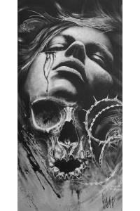 Cruciatus Acrylpainting by Guy Labo-O-Kult