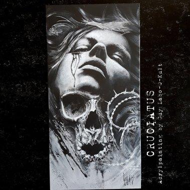 """Acrylpainting """"Cruciatus"""" by Guy Labo-O-Kult"""