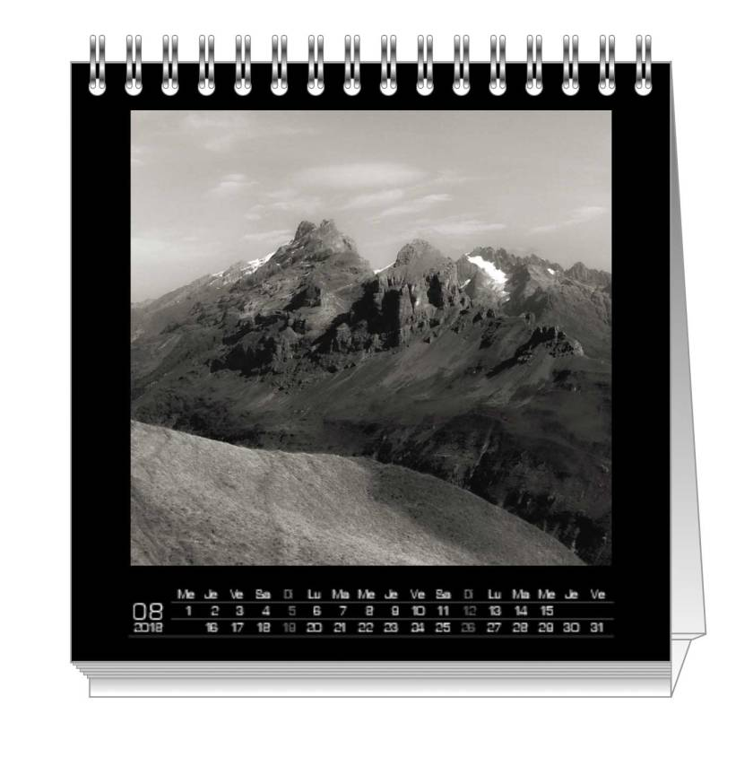 Example Picture of a Page in Calendar 2018 Ka L-O-K