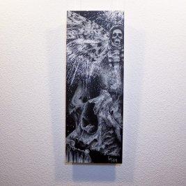 """Acherontia"" - Originalbild von Guy Labo-O-Kult - Acryl auf Leinwandboard"