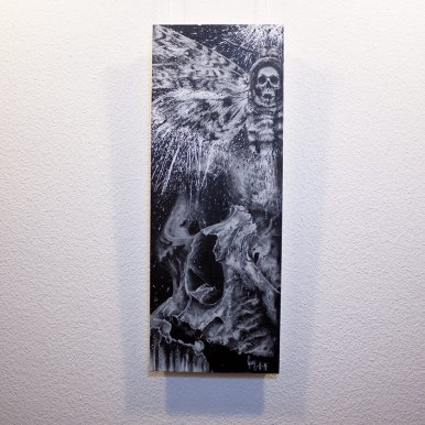"""Acherontia"" - Oeuvre original de Guy Labo-O-Kult, peinture acrylique"