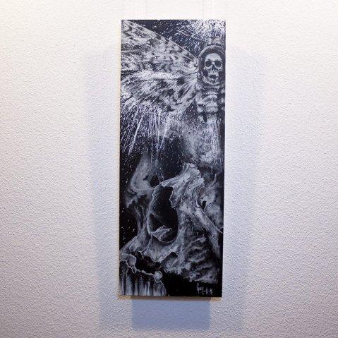 """Acherontia"" - Original Artwork by Guy Labo-O-Kult (Acrylic on Canvas board)"