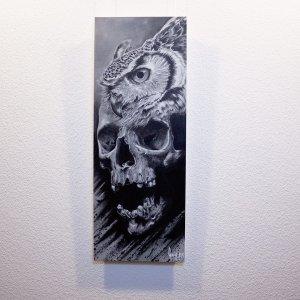 "Detail of ""Bub-O-Feralis""  - Original Artwork by Guy Labo-O-Kult, acrylicpainting"