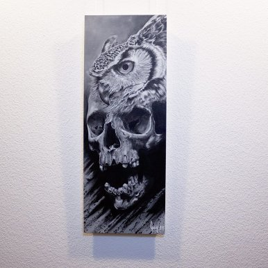 """Bub-O-Feralis"" - Oeuvre original de Guy Labo-O-Kult, peinture acrylique"
