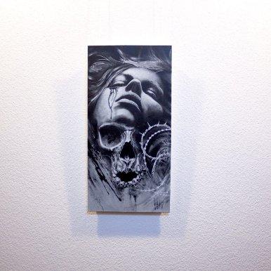 """Cruciatus"" - Originalbild von Guy Labo-O-Kult, Acrylgemälde"