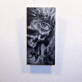 """Nuntius Nigrum"" - Oeuvre original de Guy Labo-O-Kult, peinture acrylique"